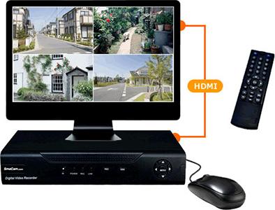 自宅のテレビでカメラ映像の確認が可能